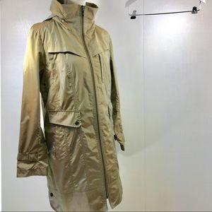 Cole Haan Trench Rain Coat. Khaki. M
